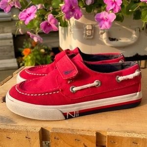 ⭐️Nautica Toddler Red Boat Shoes